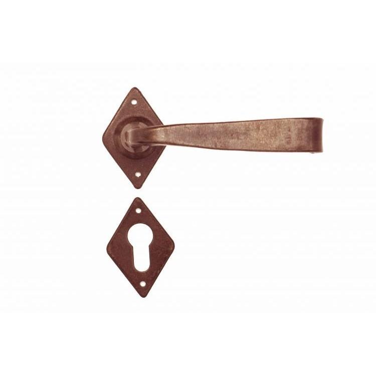 FM 376.Y.R / Klamka żelazna z szyldem FM 376.Y.R